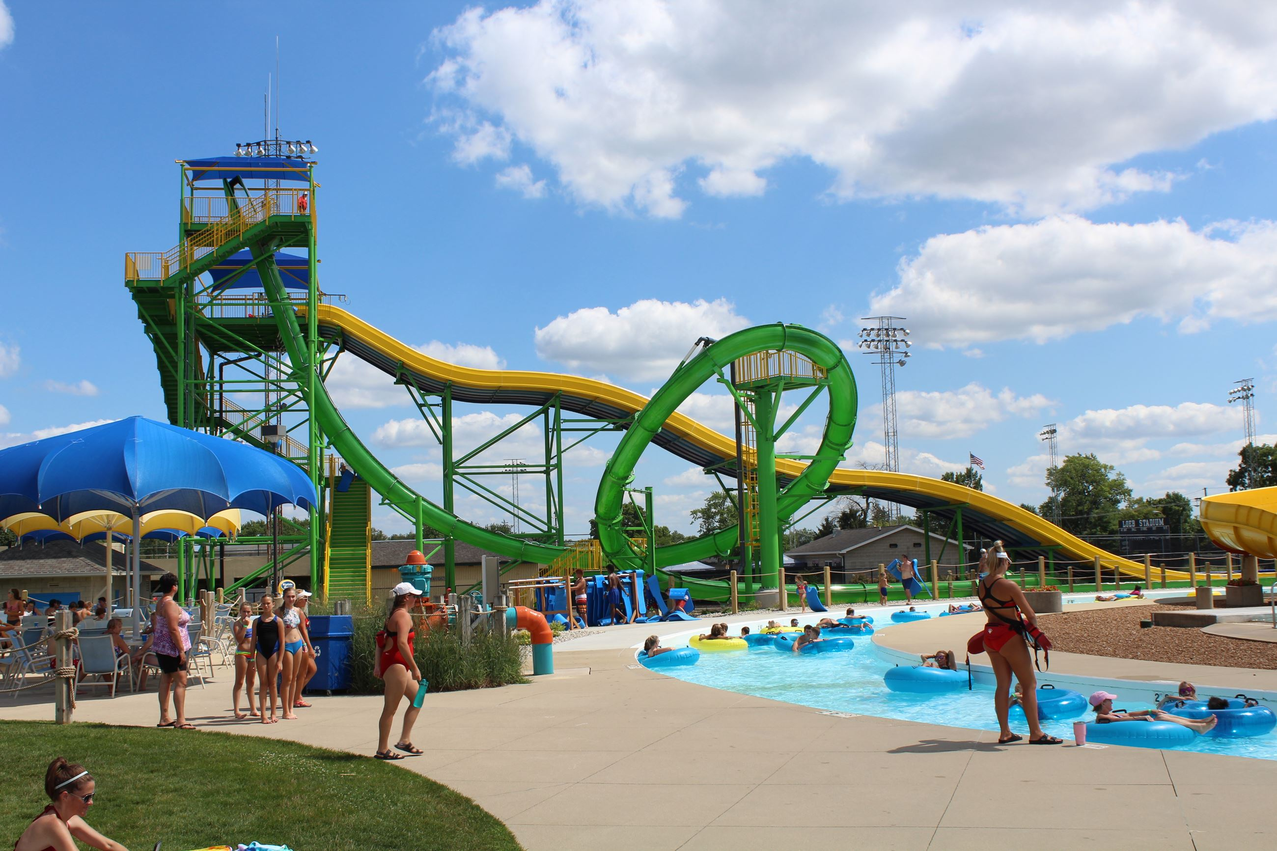 New Water Slides at Columbiann Park - Tropicanoe Cove