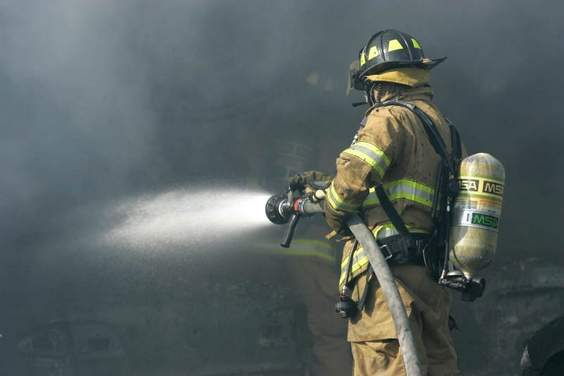 Fire Fighter With Hose