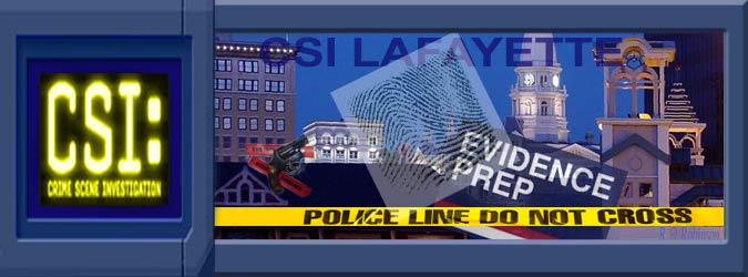 Crime Scene Investigation (CSI) Lafayette - Evidence Prep - Police Line Do Not Cross