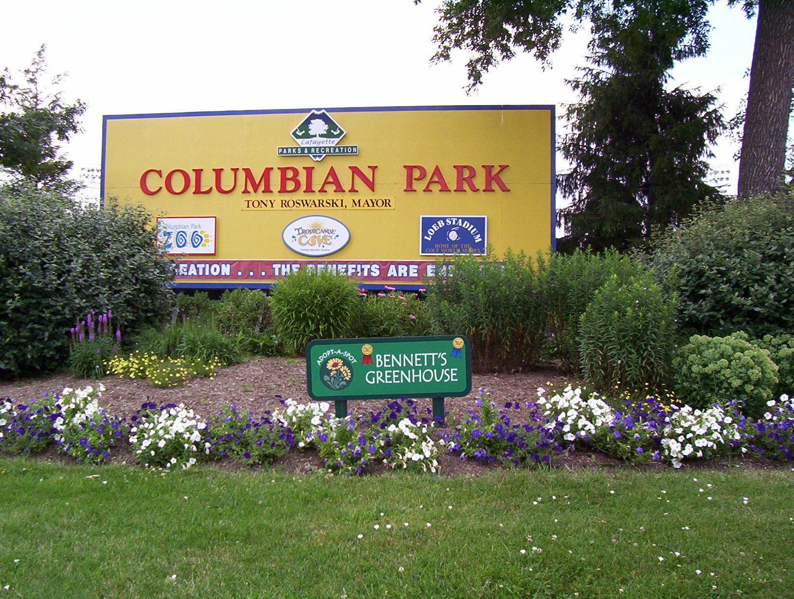 Columbian Park Sign