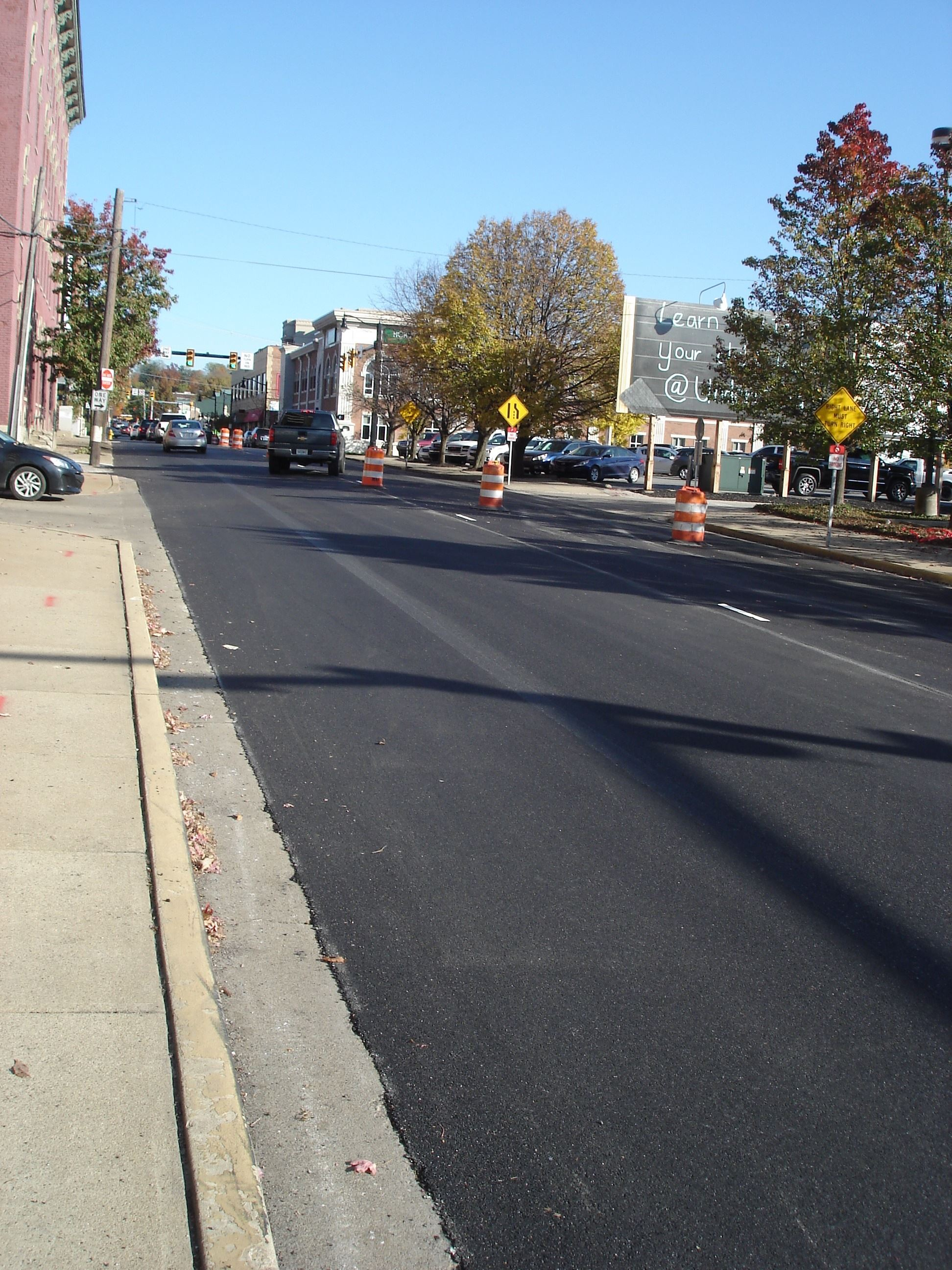Newly paved South Street