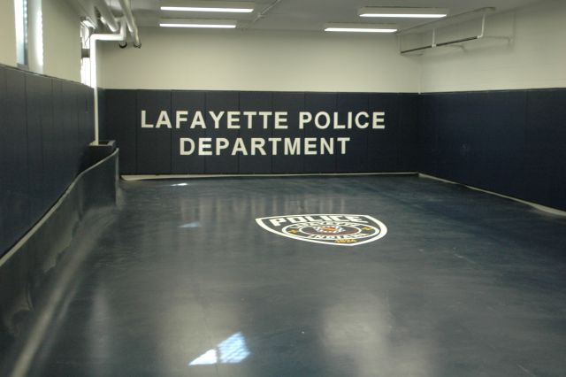 Lafayette Police Department defensive tactics mat