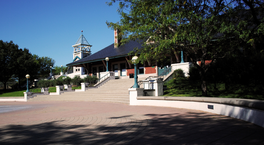 Front steps of the depot