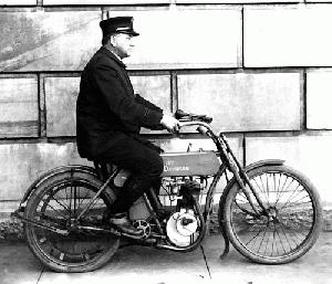 Early Harley Davidson Motorcycle