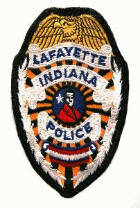 Lafayette Indiana Police Patch - Introduced at about the time the department was reorganized