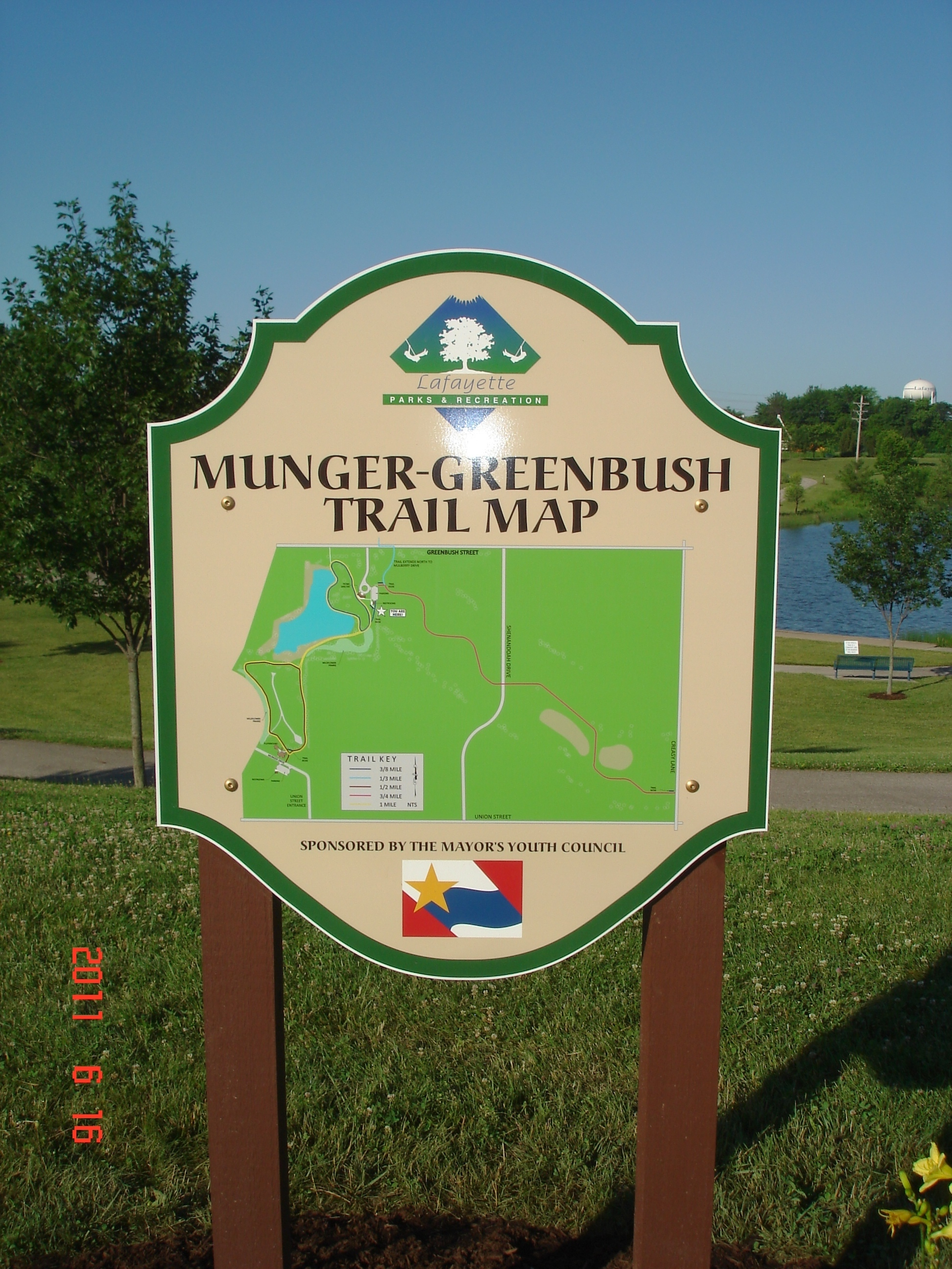 Munger Greenbush Trail Map sign
