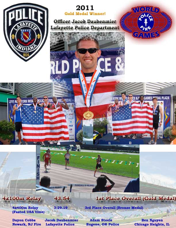 2011 Gold Medal Winner! Officer Jacob Daubenmier Lafayette Police Department