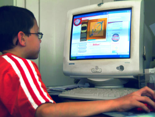 Child Playing a Game on the Internet