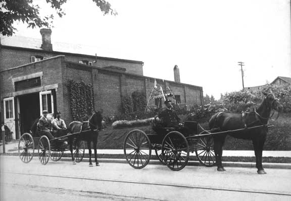 712 North 9th Street - Chief Beaucond in first buggy (1902-1906)